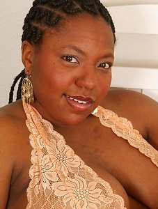 Big thick chic Nyla has thunder thighs finished with a lovely hairy pussy and big ebony booty.
